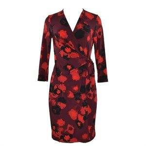 Anne Klein Womens A Line Dress V Neck 6 New